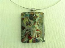 Chunky lampwork pendant necklace (2)
